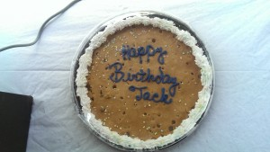 Jack Kingston was born April 24, 1955 in Bryan, Texas, and grew up in Athens, GA, where he also attended the University of Georgia. Kingston's supporters in Decatur and Grady counties helped Kingston celebrate his birthday with a cookie cake.
