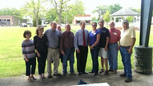 U.S. Congressman Jack Kingston, who is running for a U.S. Senate seat, visited with supporters and interested citizens in Climax, GA on April 24, 2014. Pictured are Kingston with a group of local campaign supporters.