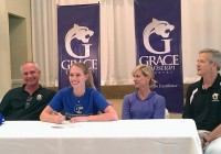 Grace Christian Academy senior Melissa Mills signs a letter of intent to play volleyball on scholarship with Gulf Coast Community College in Panama City, Fla.