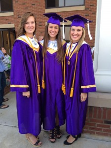 Brooke Parker, right, was the salutatorian of the BHS Class of 2014. Here she is pictured on BHS Honors Night with fellow graduates Lynsey Waddell, left, and Madison Hutchins, center.