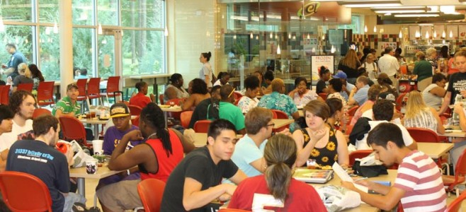 SC students gather in the Student Wellness Center at the main campus for the Welcome Back Bash on Wednesday, Aug. 27.