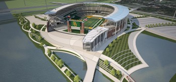 McLane Stadium, the new home of the Baylor Bears.