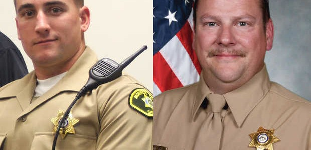 Monroe County sheriff's deputies Michael Norris, left, and Jeffrey Wilson were shot while responding to an attempted suicide calls.