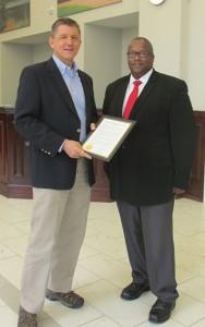 Bainbridge, GA Mayor Edward Reynolds, left, and Michael Edwards, right
