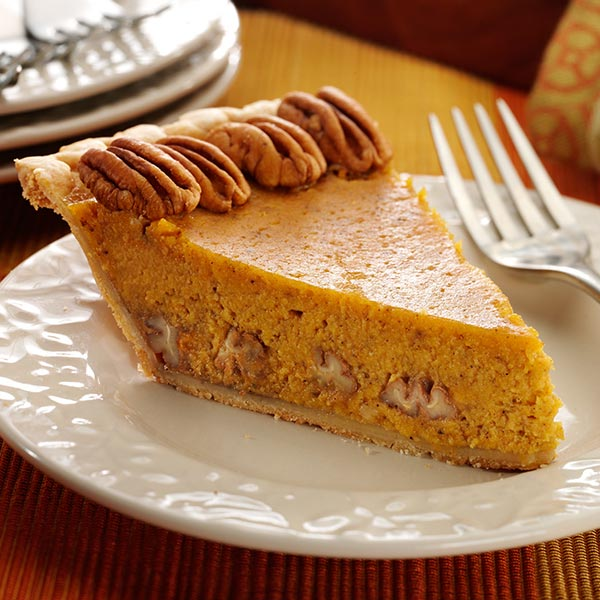 Add healthy pecans to pumpkin pie for a delicious Fall dessert ...