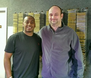 "Phillip Gamble of the Paderborn, Germany, Dolphins pro football team and Brennan ""Big Dawg"" Leathers, host of the WMGR Power Hour heard weekday mornings at 11 a.m. on 99.3 FM / 930 AM (Bainbridge) and WSEM 1500 AM (Donalsonville)."