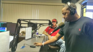 Phillip Gamble, running back for the Paderborn, Germany, Dolphins American football team stopped by the Jesus and Jammin' morning radio show carried on six Southwest Georgia radio stations.