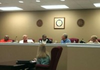 Decatur County commissioners pictured at their meeting on Tuesday. March 24. Commissioner Rusty Davis was present but not pictured.