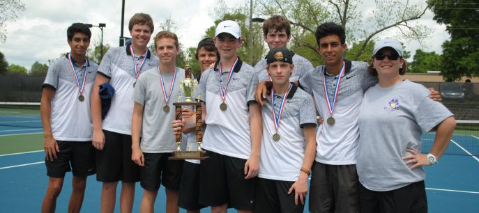 The Bainbridge High School boys tennis team were the Region 1-AAAA champions. They are coached by Amy Thomas.