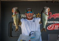 Greg Jeter is in the lead in the co-angler division after Day2