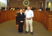 Mayor Pro-Tem Don Whaley had the privilege of swearing in Jessica Richardson as a new officer with Bainbridge Public Safety.