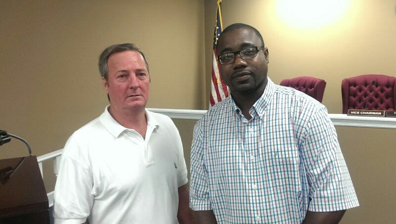 Newly appointed Decatur County (GA) Administrator Alan Thomas and Decatur County Commissioner Dennis Brinson