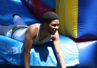 Roy Hobbs of Bainbridge goes through the obstacle course, Adrenaline Rush during the Welcome Back Bash.