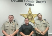 From left to right, Decatur County Sheriff's Deputy Chris Hill, Sheriff's Investigator Robert Humphrey and Deputy Michael Musgrove.