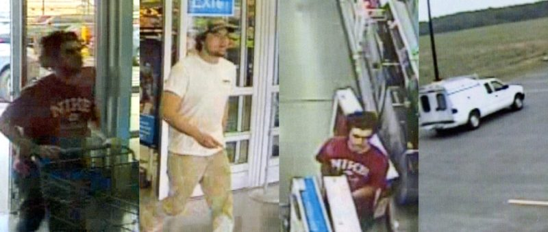 Surveillance Video Shows Thieves Taking Large Screen TVs Out A Side Entrance At The Wal Mart In Sylvester GA