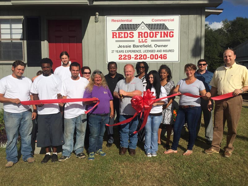 Red's Roofing Bainbridge, GA ribbon cutting