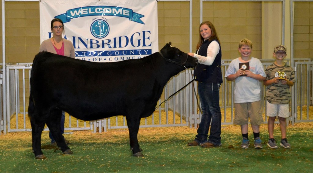 Grand Champion Registered Heifer was exhibited by Lexie Delbrey