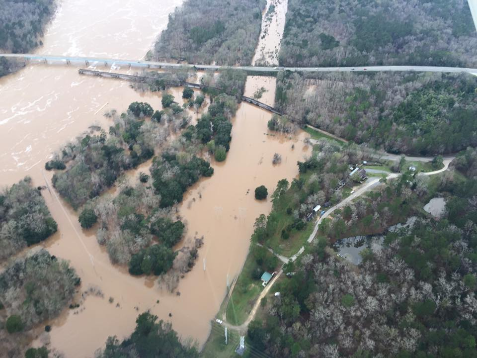 Flooding in Chattahoochee, FL on January 2, 2015. Photo by Tony Cooper