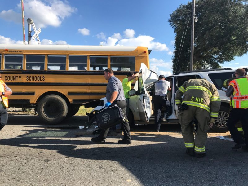 WRECK: Distracted Driver Rear Ends School Bus in ...