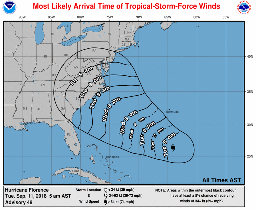 hurricane florence tracker - photo #41